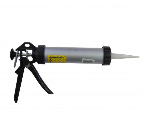 Пистолет для силикона и герметика аллюминиевый закрытого типа 400гр