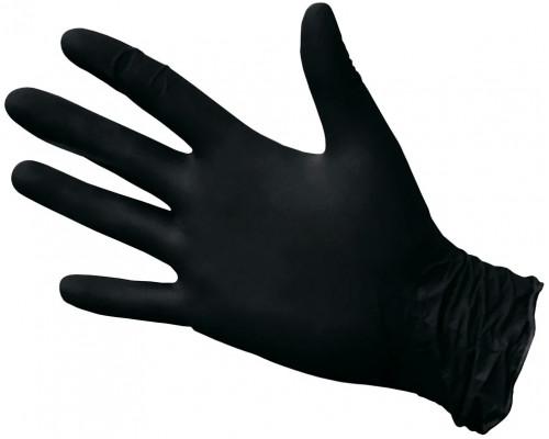 Нитриловые перчатки ROXTOP, чёрные, размер M, упаковка 100 шт.