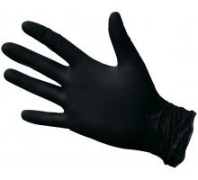 Нитриловые перчатки ROXTOP, чёрные, размер L, упаковка 100 шт.