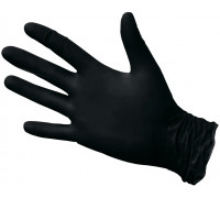 Нитриловые перчатки ROXTOP, чёрные, размер XL, упаковка 100 шт.