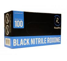 Нитриловые перчатки ROXONE, чёрные, размер M, упаковка 100 шт.