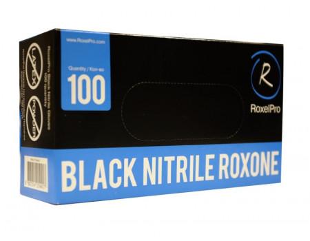 Нитриловые перчатки ROXONE, чёрные, размер M, упаковка 100 шт., 721421