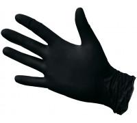 Нитриловые перчатки ROXONE, чёрные, размер L, упаковка 100 шт.