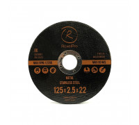Отрезной круг ROXTOP 125 x 3.0 x 22мм, Т41, нерж.сталь, металл