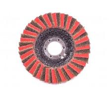 Лепестковый комбинированный круг 115 х 22мм, конический, Medium+Р80