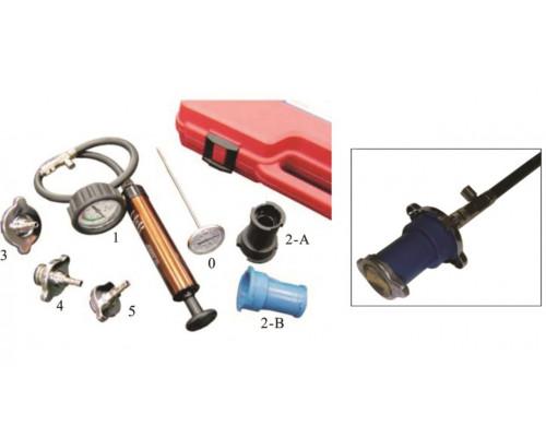 Набор инструментов для тестирования герметичности охладительной системы 7 предметов в кейсе JTC