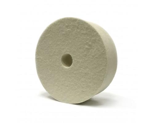 Радиальный торцевой фетровый полировальный круг  150 х 50 х 25мм, мягкий