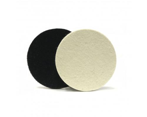 Фетровый полировальный круг на липучке 125 х 6мм, мягкий