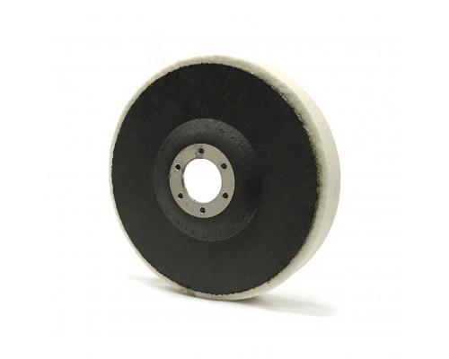 Фетровый полировальный круг на оправке 125 х 20 х 22мм, мягкий