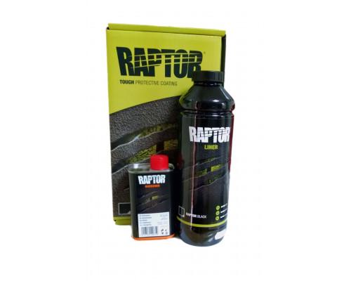 RAPTOR 2K 3:1 Защитное покрытие повышенной прочности, комплект 1л, черный