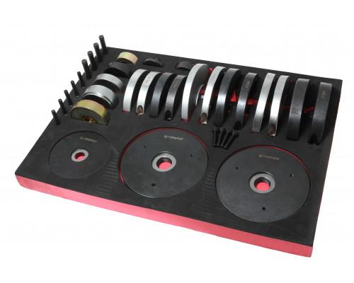 Набор инструментов для замены ступичных подшипников (Ø72/78/82мм) в ложементе