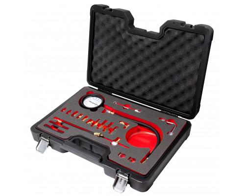 """Тестер давления топлива 0-140 psi,0-10 bar,в кейсе""""Premium"""""""