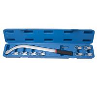 Ключ накидной удлиненный изогнутый со сменными насадками (12,13, 14, 15, 16, 17, 18, 19мм) 10пр., в