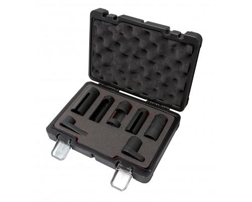 Набор головок для форсунок и датчиков 7пр. (22, 27, 29мм), в кейсе Premium