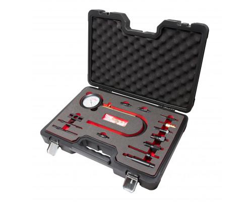 Тестер компрессии дизельного двигателя (0-70 bar) 15пр., в кейсе Premium