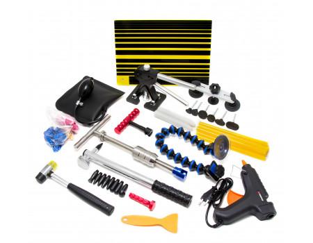 Набор инструментов для безпокрасочного удаления вмятин с термопистолетом 55пр., в сумке, F-915M1A