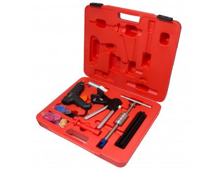 Набор инструментов для безпокрасочного удаления вмятин с термопистолетом 32пр., в кейсе, F-915M1B