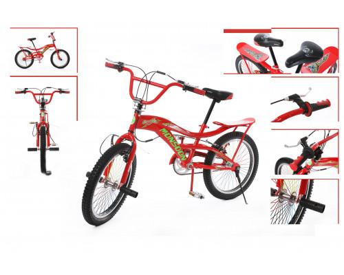 Велосипед подростковый трюковый с багажником(рама:сталь; вилка: regid, сталь; ободные тормоза; мягко
