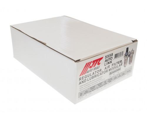 """Блок подготовки воздуха (лубрикатор,осушитель) 1/2"""" металл. переключ. 215PSI 3000л/мин. 150 мл JTC"""