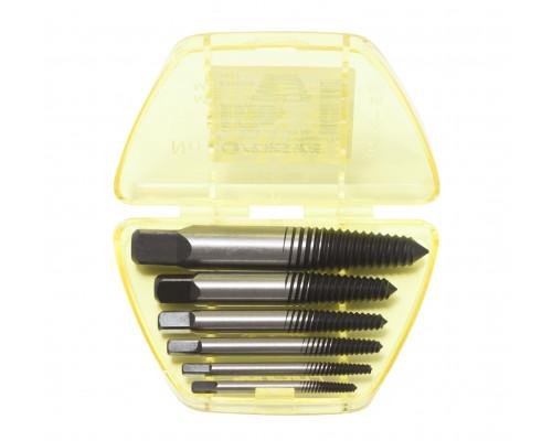 Набор экстракторов резьбы  HSS 4241,6пр.(М3-М25; Ø:3-6мм, 6-8мм, 8-11мм, 11-14мм, 14-18мм, 18-22мм;