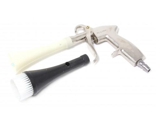 """Пистолет пневматический """"Tornado""""  для химчистки салона а/м со сменной щеткой-насадкой"""