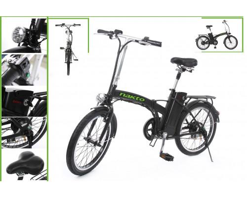 Велогибрид складной (Мотор-колесо (250Вт, 36В); пробег-50км (10 Аh); рама-сталь; Vmax-30км/ч; тормоз
