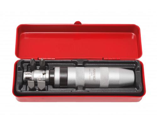 Отвертка ударная с набором бит и адаптером, 6пр (PH2,3х36мм; SL9,11х36мм) в метал. кейсе