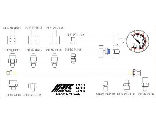 Тестер давления масла гидроусилителя руля в кейсе JTC