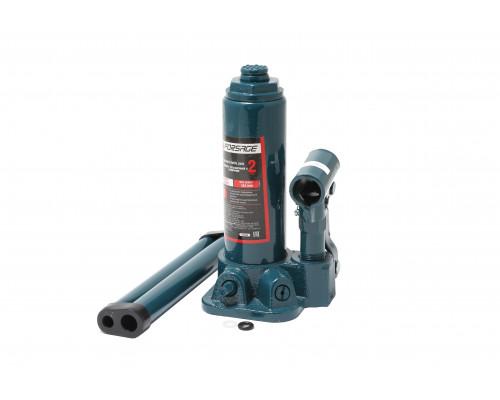 Домкрат бутылочный  2т с клапаном+доп. рем.к-т (h min 181мм, h max 345мм)
