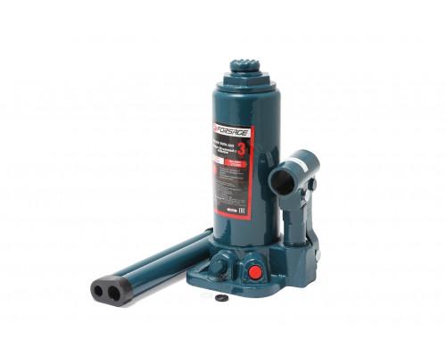 Домкрат бутылочный  3т с клапаном+доп. рем.-т (h min 194мм, h max 372мм)