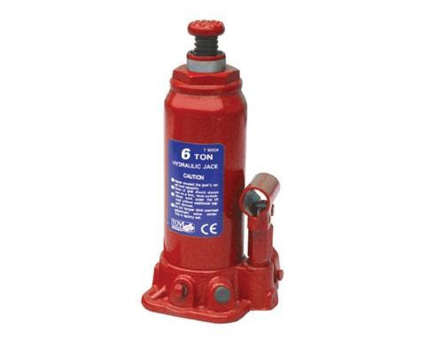Домкрат бутылочный  6 т с клапаном (h min 216мм, h max 413мм)