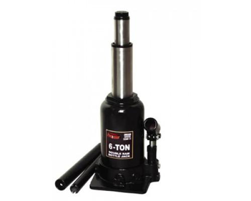 Домкрат бутылочный с двумя штоками,  6т с клапаном  (h min 215мм, h max 485мм)