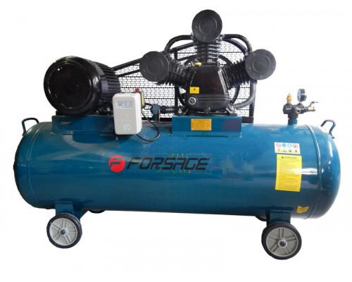 Компрессор 500л 3-х поршневой с ременным приводом  (7.5кВт, ресивер 500л, 900л/м, 380В давление 12,5