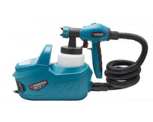 Краскопульт ручной электрический с компрессором и шлангом (220В, 750Вт, бачок 0.8л, сопло 1.8/2.6мм,