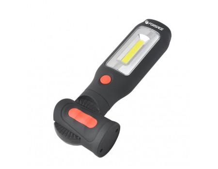 Лампа светодиодная аккумуляторная(2 магнита,2крючка,180гр.,боковой свет 3WСОВ,торцевой свет1W1LED,3., F-01404