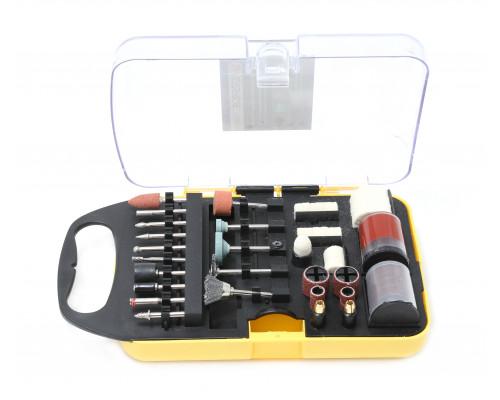 Набор аксессуаров для мини-дрелей, 71пр., в пластиковом кейсе