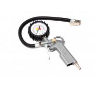 Пистолет для подкачки шин с аналоговым манометром и шлангом (0-16Bar), в блистере