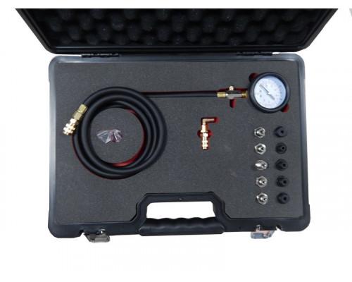 Тестер давления масла в комплекте с резьбовыми адаптерами-переходниками 12пр.(0-10bar), в кейсе Prem