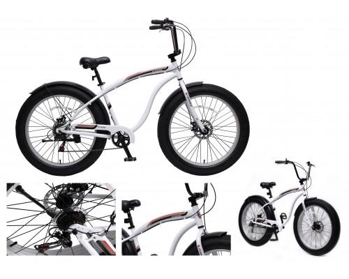 "Велосипед Фэтбайк(рама:алюм.,Ø колес:26"",7 скоростей, диск. тормоза Tektro перед/зад, покрышки 4"", м"