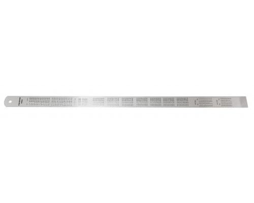 Линейка металлическая измерительная с таблицей перевода 1000мм