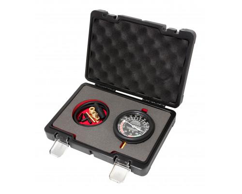 """Тестер  давления топлива и вакуума в наборе с резьбовыми адаптерами  9пр., в кейсе """"Premium"""""""