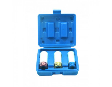 Набор головок для литых дисков с защитным кожухом 3пр. (17, 19, 21мм) в пластиковом кейсе, PA-5001