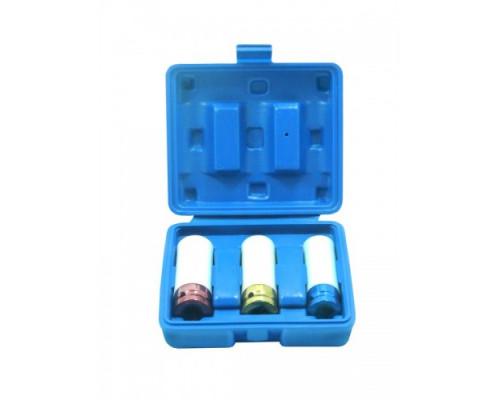 Набор головок для литых дисков с защитным кожухом 3пр. (17, 19, 21мм) в пластиковом кейсе