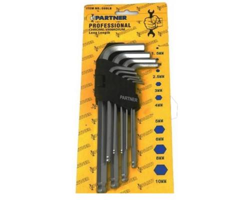 Набор ключей 6-гранных Г-образных с шаром 9пр.(1,5-10мм) в пластиковом держателе