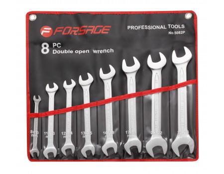 Набор ключей рожковых 8пр.(8,10-19,21,22,24мм)на полотне, F-5082P