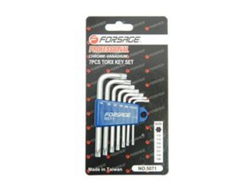 Набор ключей Г-образных TORX 7пр.(Т10,Т15,Т20,Т25,Т27,Т30,Т40)в пластиковом держателе