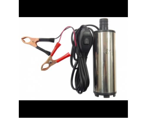 Насос для перекачки топлива (12В, диам. 51 мм, мощность 60Вт, 30 л/мин., диам. выходного отверстия 1