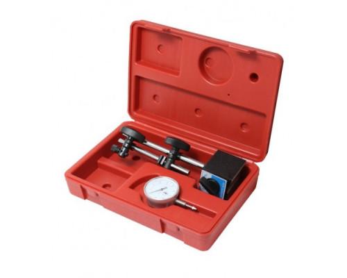 Индикатор часового типа с магнитной стойкой (0-10мм, погрешность-0,01мм), в кейсе