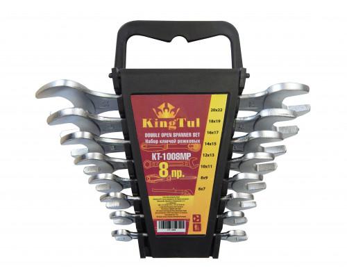 Набор ключей рожковых 8пр. (6х7-20х22мм) в пласт. держателе