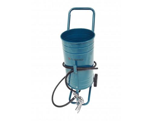 Передвижной пескоструйный аппарат инжекторного типа (бак 19л, 170-566л/мин, 4-8,5атм)